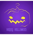 Happy halloween smiley pumpkin vector