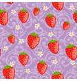 Seamless strawberries background vector