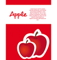 Stickers apple red dot background vector