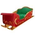 Christmas santas sleigh isolated vector