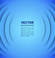 Abstract sound themed background with blue layers vector