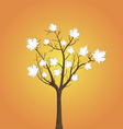 Tree and leaves from white paper vector
