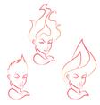 Fire girl vector