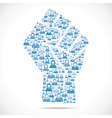 Group of people make hand to show unity vector