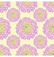 Dahlia seamless pattern vector