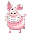 Happy pig smile vector
