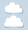 Clouds applique banners vector