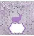 Christmas deer and snowflake eps 8 vector