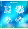 Retro christmas frame vector