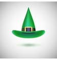 Green witch hat for halloween vector