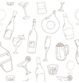 Wine and cocktail seamless background vector