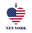 I love new york t-shirt design heart tee templates vector