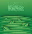 Green background template with leaves vector