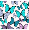 Seamless pattern with bright colorful butterflies vector