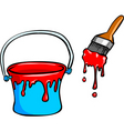 Red paint dye vector
