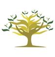 Tree of open hands vector