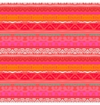 Striped ethnic pattern in vibrant red orange vector