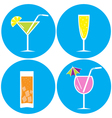 Set of drinks cocktails icons vector