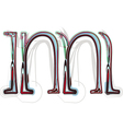 Font letter m vector