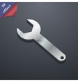 Wrench key icon symbol 3d style trendy modern vector