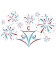 People with fireworks vector