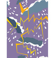 Seamless pattern with thunderstorm and rain vector