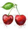 Cherry logo design template fruit or food vector
