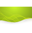 Abstract green background with lines vector