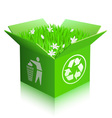 Recycle shipping box vector