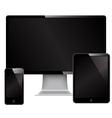 Phone monitor and mini computer vector