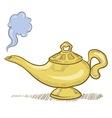 Doodle genie lamp vector
