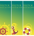 Vertical sea banner vector