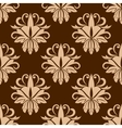 Beige and brown seamless pattern vector