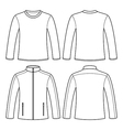 Jacket and long-sleeved t-shirt vector