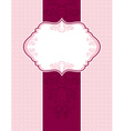 Pink classical background with decorative ornament vector