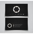 Business card template camera shutter concept vector