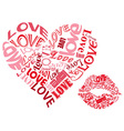 Love heartsandkisses vector