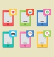 Mobile style icons vector