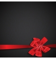 Abstract background with red gift ribbon vector