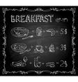 Breakfast chalkboard menu vector