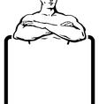 Man banner vector