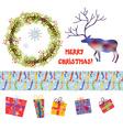 Christmas design elements set - funny cartoons vector