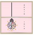 Creative brain idea and light bulb banner concept vector