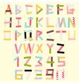 Masking tape alphabet vector