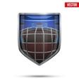 Bright shield in the ice hockey helmet inside vector