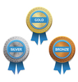 Gold silver and bronze awards eps 10 vector