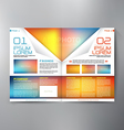 Brochure design two pages a4 template vector