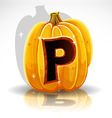 Halloween pumpkin p vector