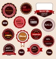 Set of sale badges labels and stickers vector