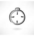 Stopwatch grunge icon vector